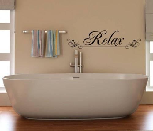 spa bathroom wall art photo - 1