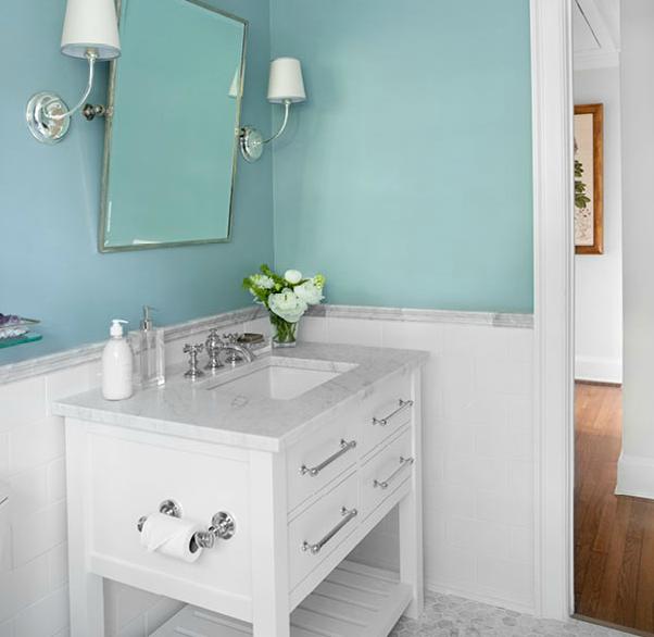 spa bathroom wall color photo - 3