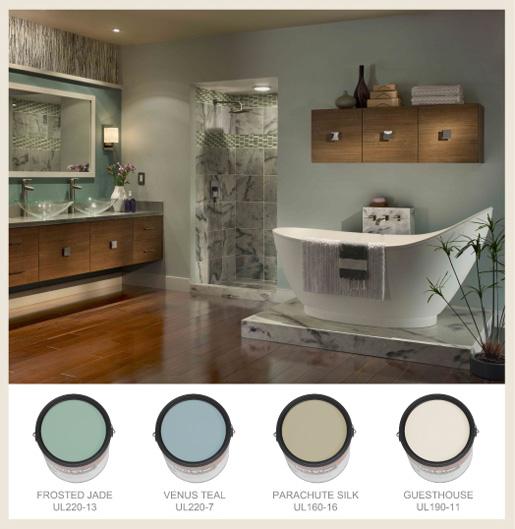 spa bathroom wall color photo - 6