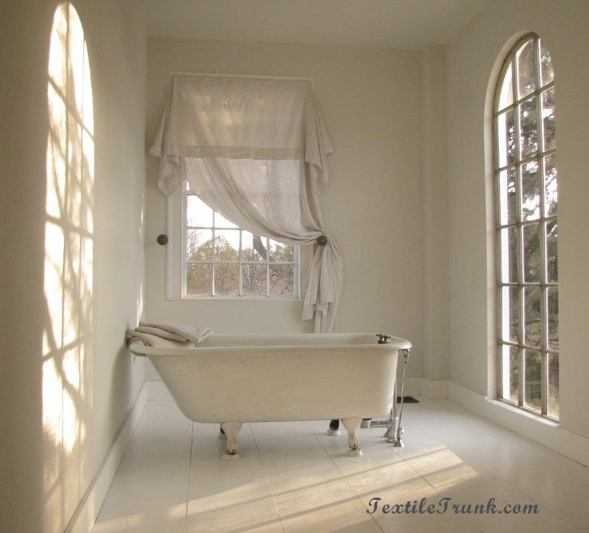spa bathroom window treatments photo - 10