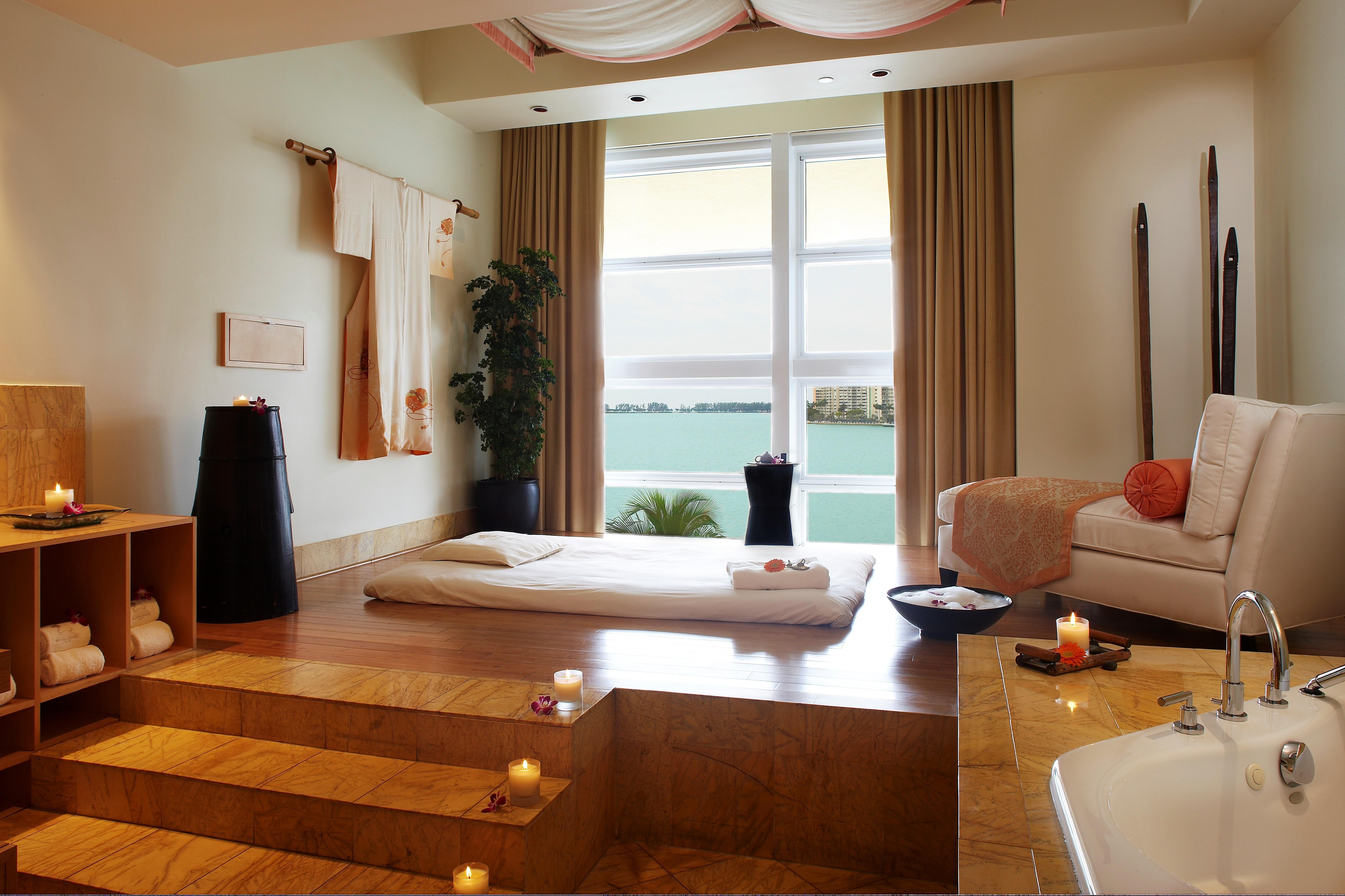 spa bathroom window treatments photo - 2