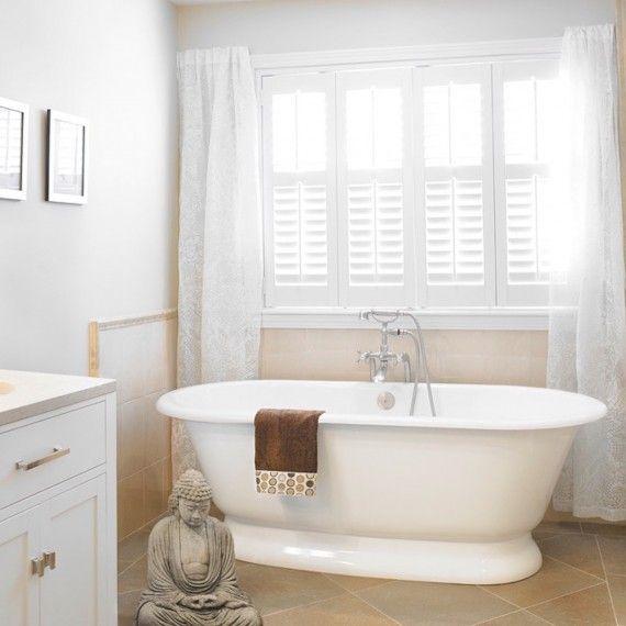 spa bathroom window treatments photo - 5