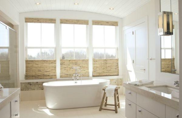 spa bathroom window treatments photo - 6