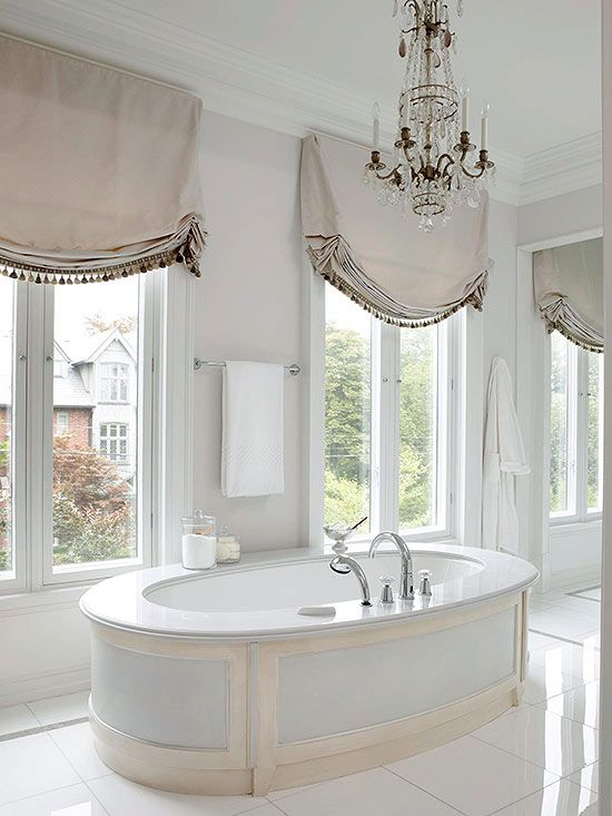 spa bathroom window treatments photo - 8
