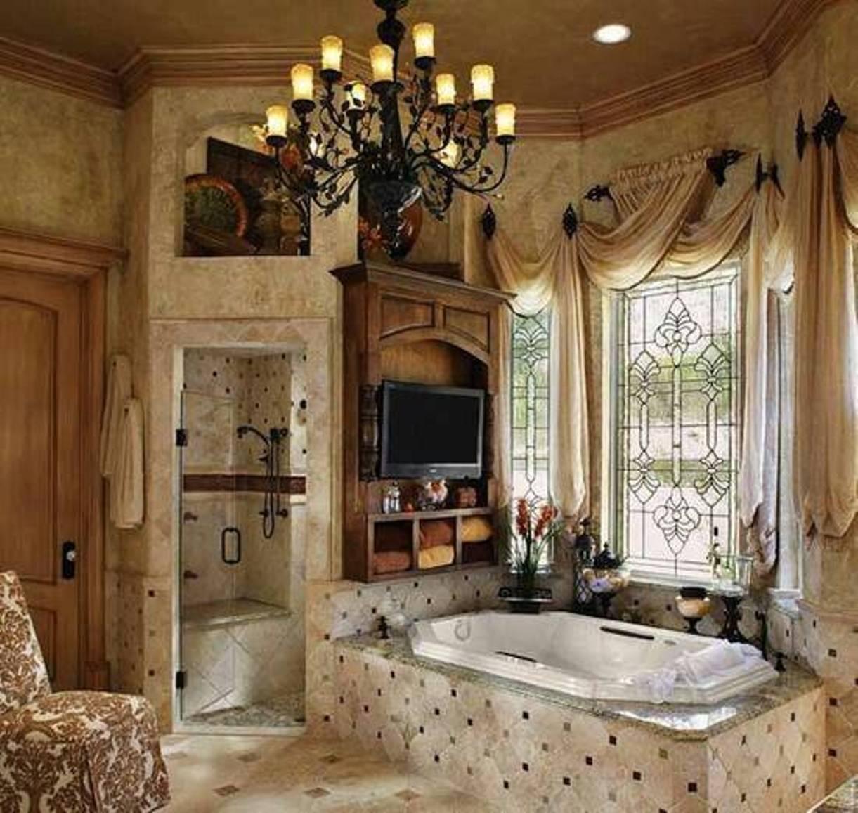 spa bathroom window treatments photo - 9