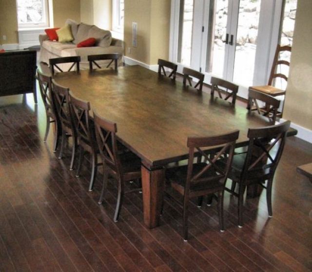 square dining table seats 12 photo - 9