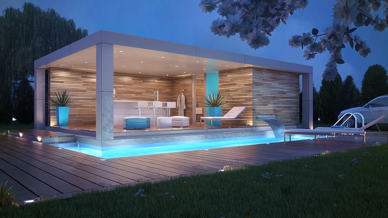 swimming pool design house photo - 6