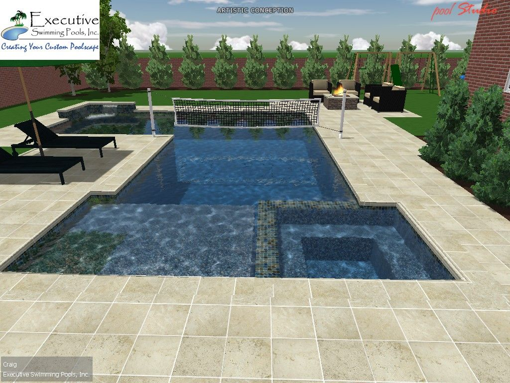 swimming pool designs for volleyball photo - 1