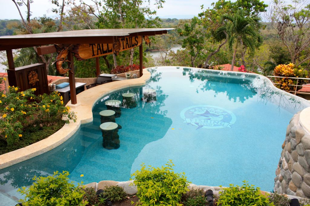 swimming pool designs with bar photo - 10