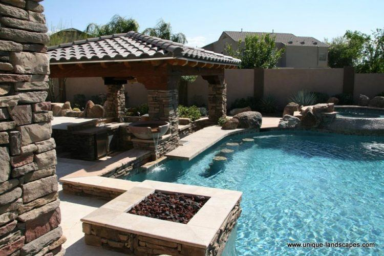 swimming pool designs with bar photo - 4