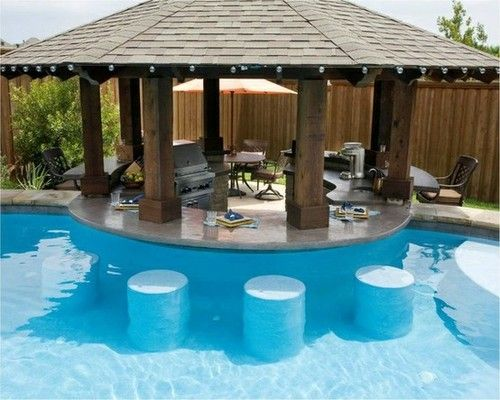 swimming pool designs with bar photo - 6