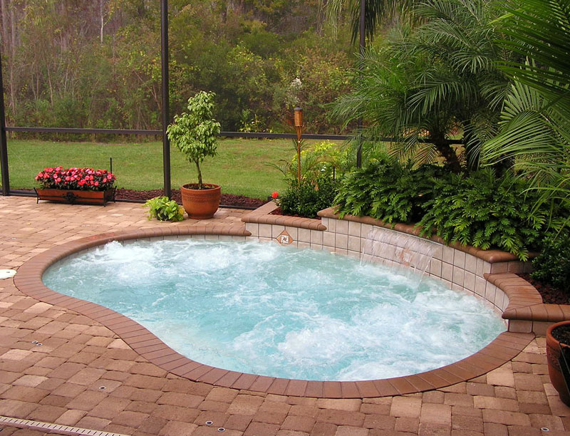 swimming pool designs with hot tub photo - 6