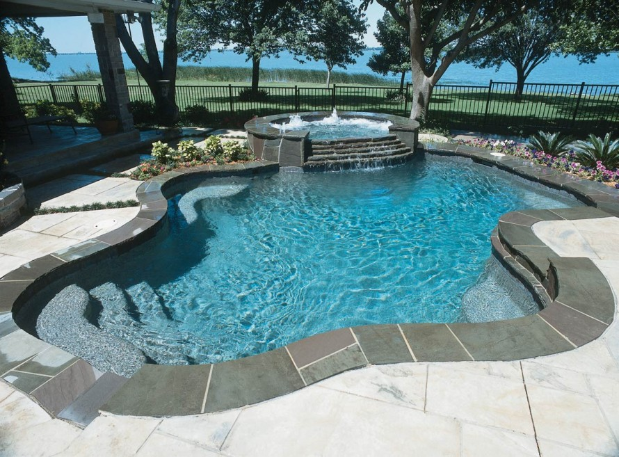 swimming pool designs with rocks photo - 10