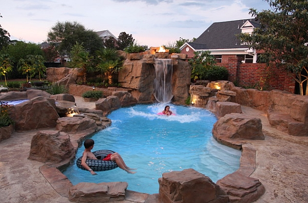 swimming pool designs with rocks photo - 2