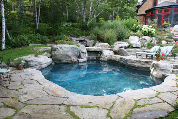 swimming pool designs with rocks photo - 3