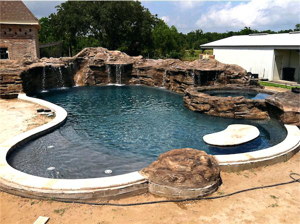 swimming pool designs with rocks photo - 6