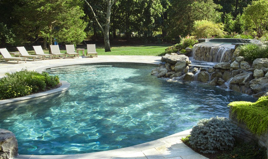 swimming pool designs with rocks photo - 7