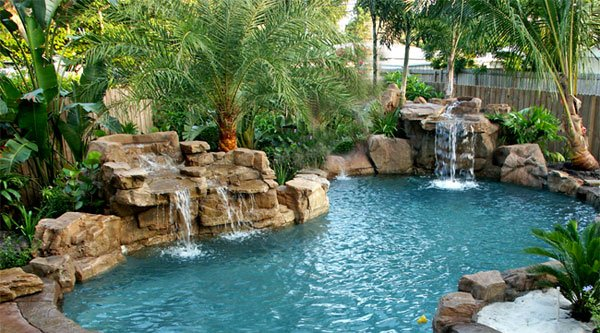 swimming pool designs with rocks photo - 8