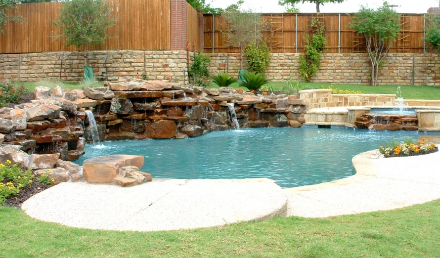 swimming pool designs with rocks photo - 9