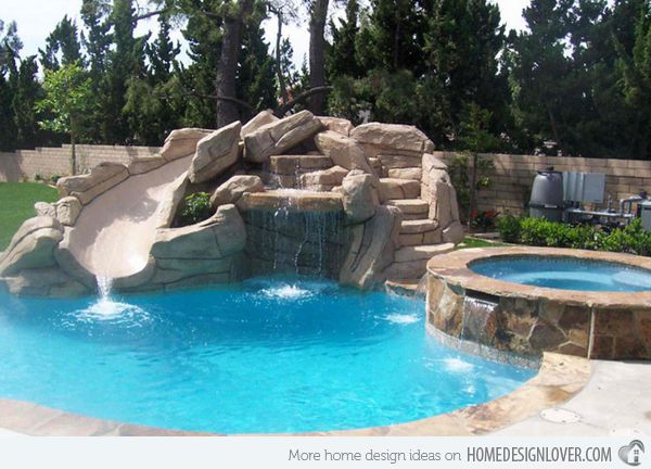 swimming pool designs with slides photo - 5