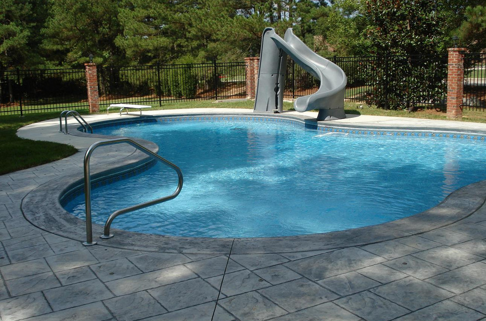 swimming pool designs with slides photo - 6