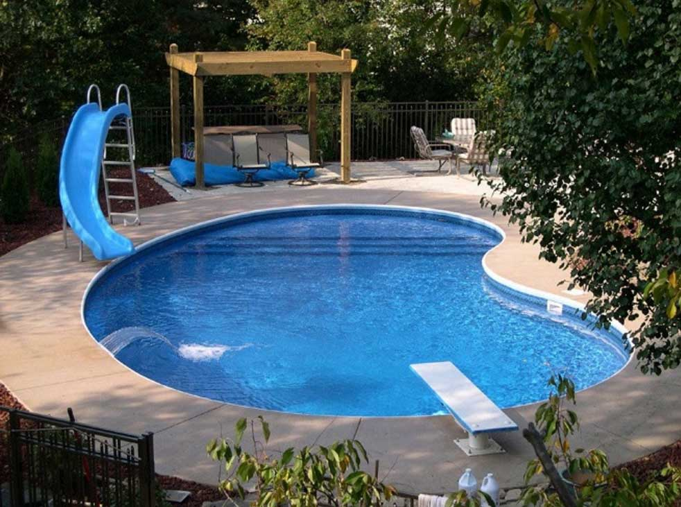 Swimming pool designs with slides | Hawk Haven