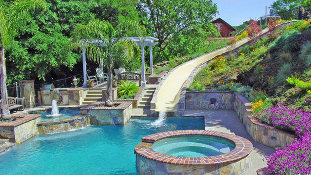 swimming pool designs with slides photo - 8