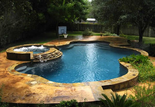 swimming pool designs with spa photo - 1