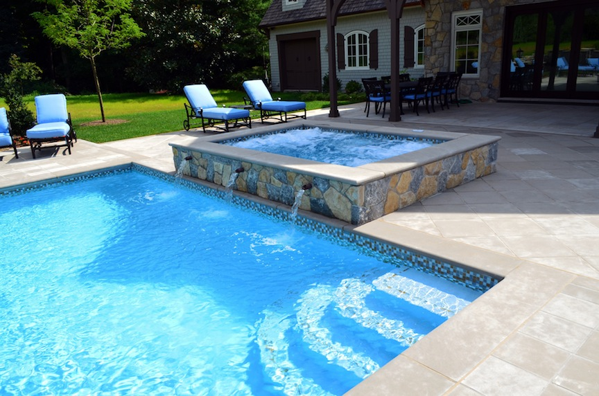 swimming pool designs with spa photo - 2