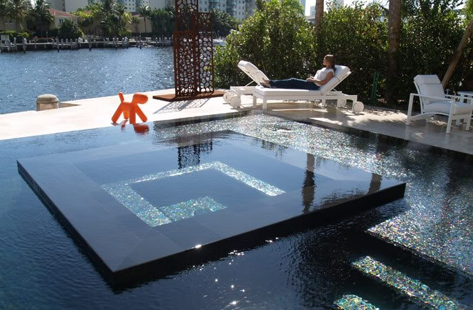 swimming pool designs with spa photo - 3