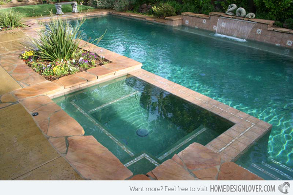 swimming pool designs with spa photo - 4