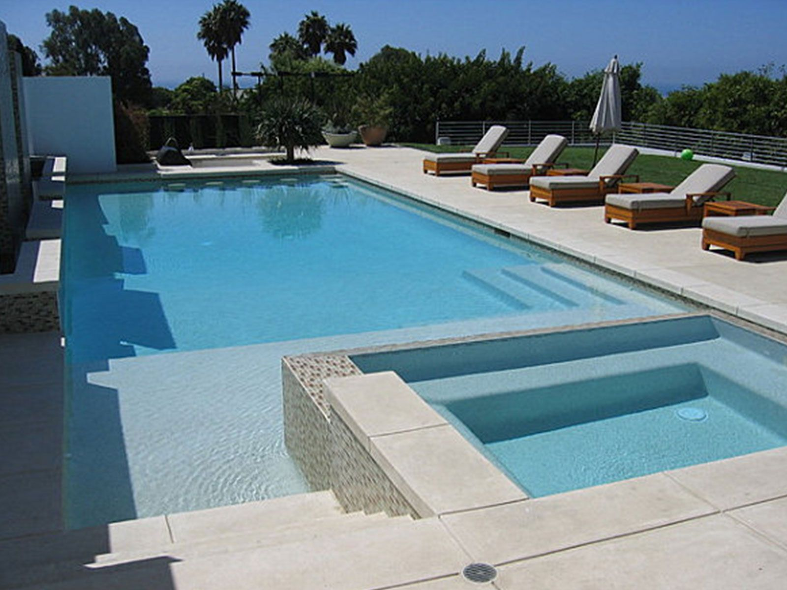 swimming pool designs with spa photo - 5