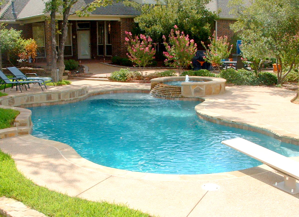 swimming pool designs with spa photo - 8