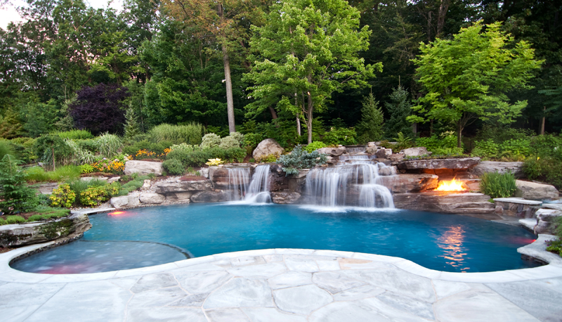 swimming pool designs with waterfalls photo - 1