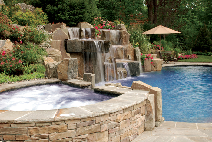 swimming pool designs with waterfalls photo - 10