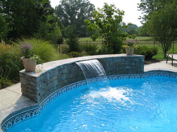 swimming pool designs with waterfalls photo - 3