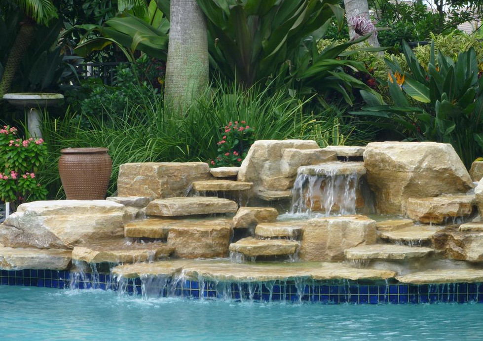 swimming pool designs with waterfalls photo - 4