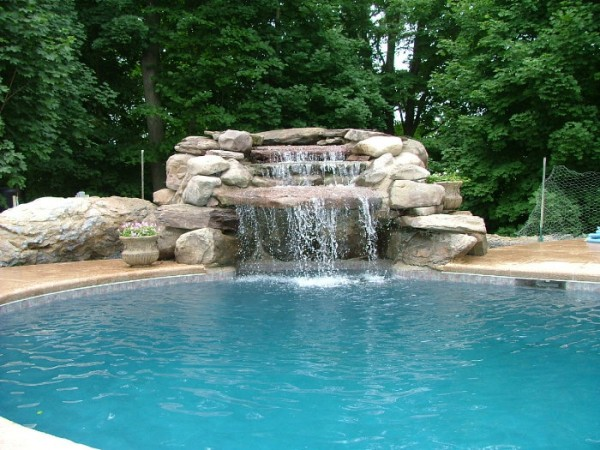 swimming pool designs with waterfalls photo - 5