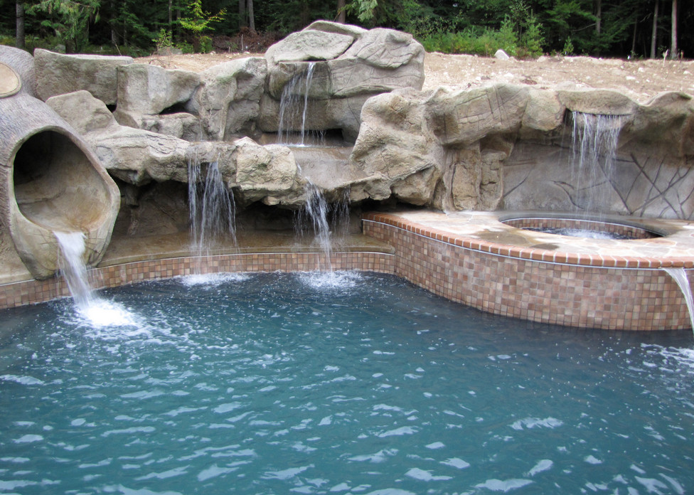 swimming pool designs with waterfalls photo - 6