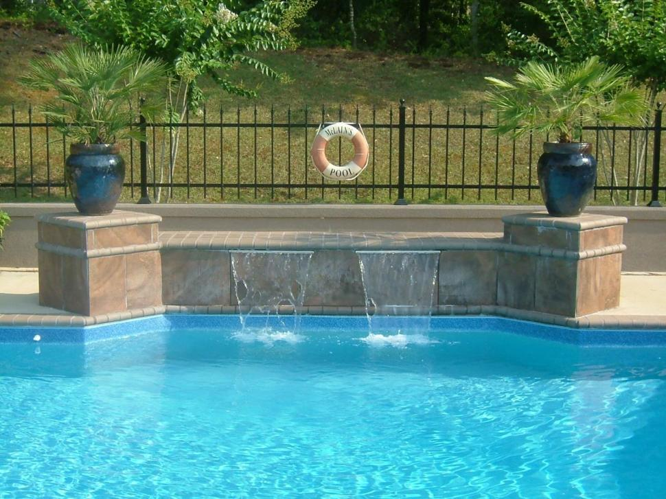 swimming pool designs with waterfalls photo - 7
