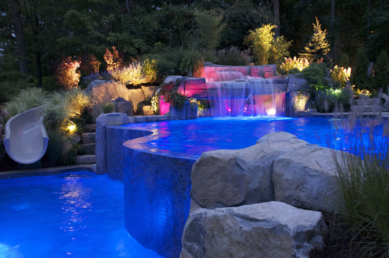 swimming pool designs with waterfalls photo - 8