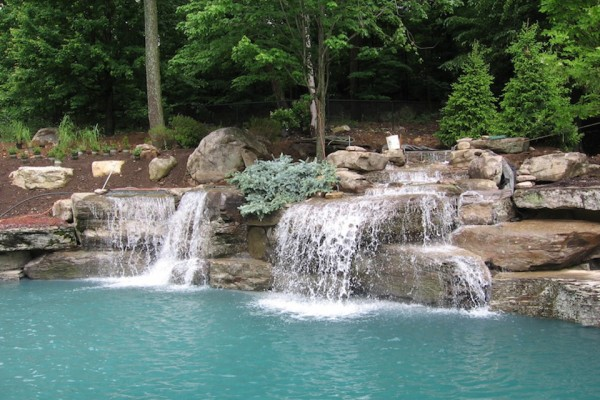 swimming pool designs with waterfalls photo - 9