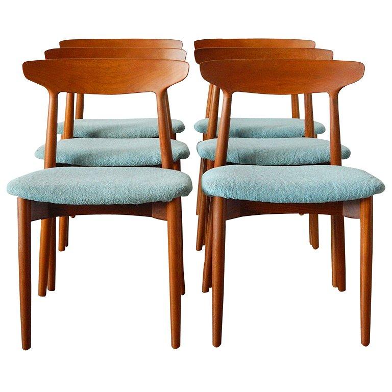 teak chairs dining room photo - 2