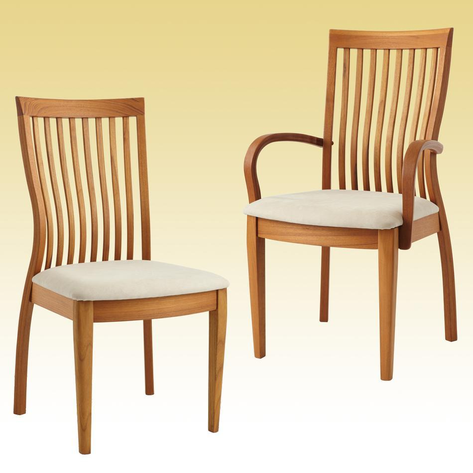 teak dining chairs indoor photo - 10