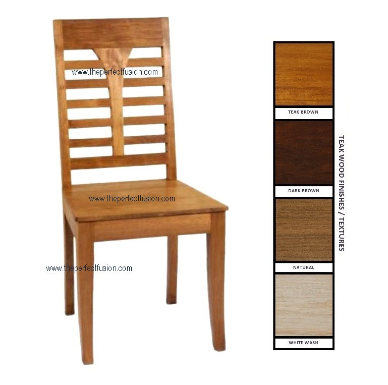 teak dining chairs indoor photo - 5