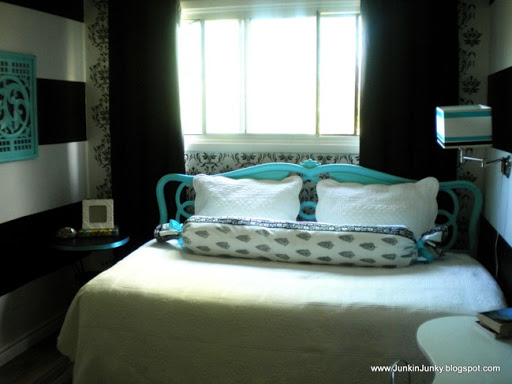 Tiffany Blue And Black White Bedrooms Photo 10
