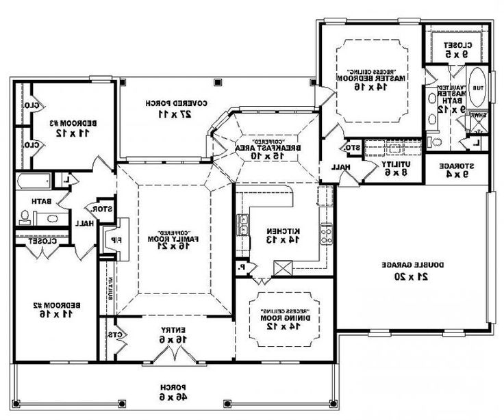 traditional 3 bedroom house plans photo - 5