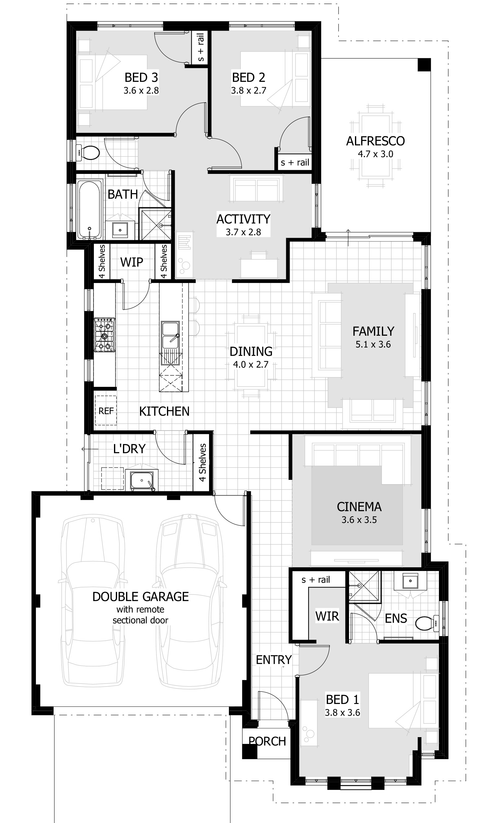 traditional 3 bedroom house plans photo - 8