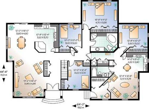 traditional 4 bedroom house plans photo - 3