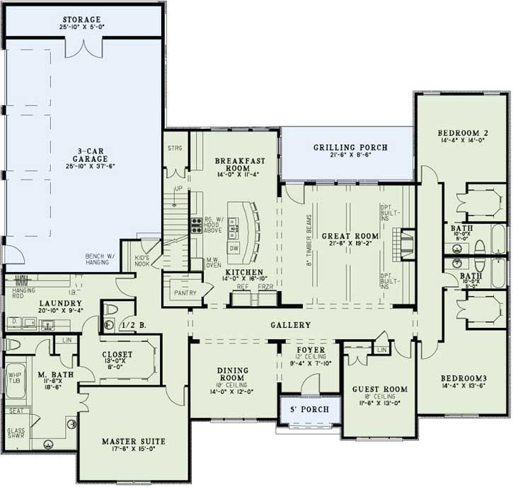traditional 4 bedroom house plans photo - 7